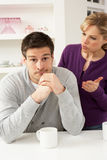 Couple Having Argument At Home Stock Photo
