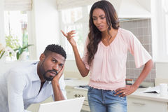 Couple having an argument Stock Photography