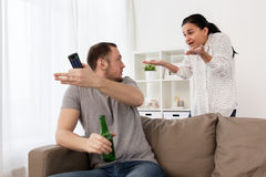 Couple having argument at home Royalty Free Stock Photography