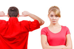 Couple having argument. Man and woman in disagreement Royalty Free Stock Photo