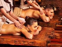 Couple having Ayurvedic spa treatment. Royalty Free Stock Photos