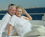 Couple having boat ride Stock Photo