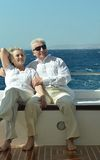 Couple having boat ride Stock Photography