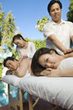 Couple Having A Body Massage Royalty Free Stock Image