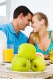 Couple having breakfast Stock Photo