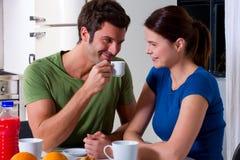 Couple having breakfast Royalty Free Stock Photography