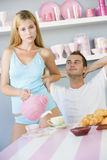 Couple having Breakfast Stock Photos