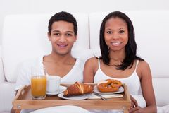 Couple Having Breakfast Stock Images