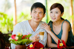 Couple Having Coffee stock photos