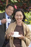Couple Having Coffee Together Stock Photography