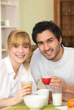 Couple having coffee together Royalty Free Stock Photography