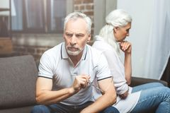 Couple having conflict royalty free stock photography