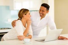 Couple having conversation Stock Images