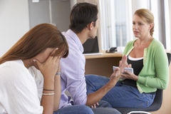 Couple Having Counselling Session Stock Image