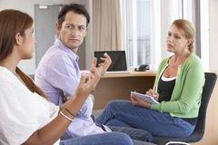Couple Having Counselling Session Stock Images