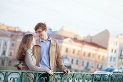 Couple having a date Royalty Free Stock Image