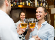 Couple having a date at bar Royalty Free Stock Photo