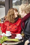 Couple having a date in cafe Royalty Free Stock Image