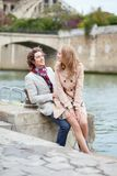 Couple having a date in Paris Royalty Free Stock Photo