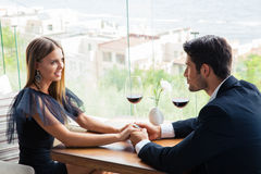 Couple having date in restaurant Royalty Free Stock Photography