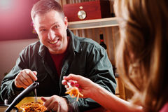 Couple having dinner Royalty Free Stock Images