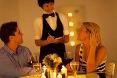 Couple having dinner Stock Photo
