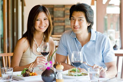 Couple Having Dinner Stock Image