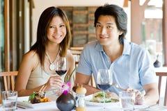 Couple Having Dinner stock image