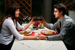 Couple having dinner Stock Photos