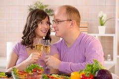 Couple having dinner Royalty Free Stock Photo