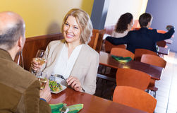 Couple having dinner at restaurant Royalty Free Stock Photo