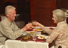 Couple having a dinner Royalty Free Stock Photos