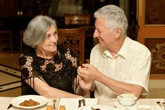 Couple having a dinner Royalty Free Stock Photography