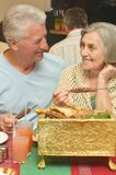 Couple having a dinner Royalty Free Stock Photo