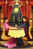 Couple having dinner Stock Images