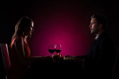 Couple having dinner Stock Photo