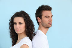 Couple having a disagreement. Young couple having a disagreement Stock Photo