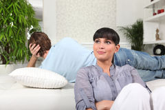 Couple having a disagreement Royalty Free Stock Photography