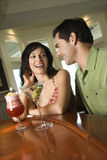 Couple Having Drinks Stock Image