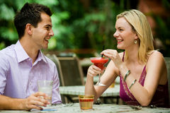 Couple Having Drinks Royalty Free Stock Photo
