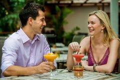 Couple Having Drinks Stock Photos