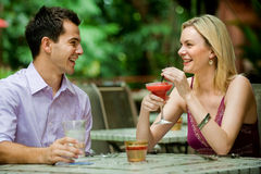 Couple Having Drinks Royalty Free Stock Photography