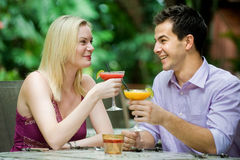 Couple Having Drinks Royalty Free Stock Photos