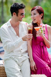 Couple Having Drinks Stock Image