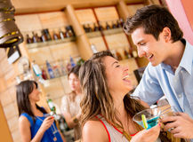 Couple having drinks Royalty Free Stock Images