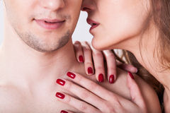 Couple having erotic moment Stock Image