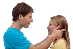 Couple having eye contact Stock Photography