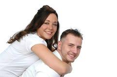 Couple having fan Stock Photos