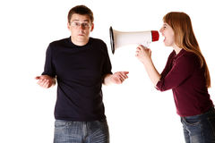 Couple having a fight. Concept. Stock Photo