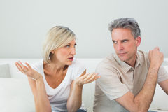 Couple having a fight at home Royalty Free Stock Photography